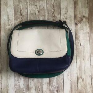 Original Coach color block cross-shoulder bag